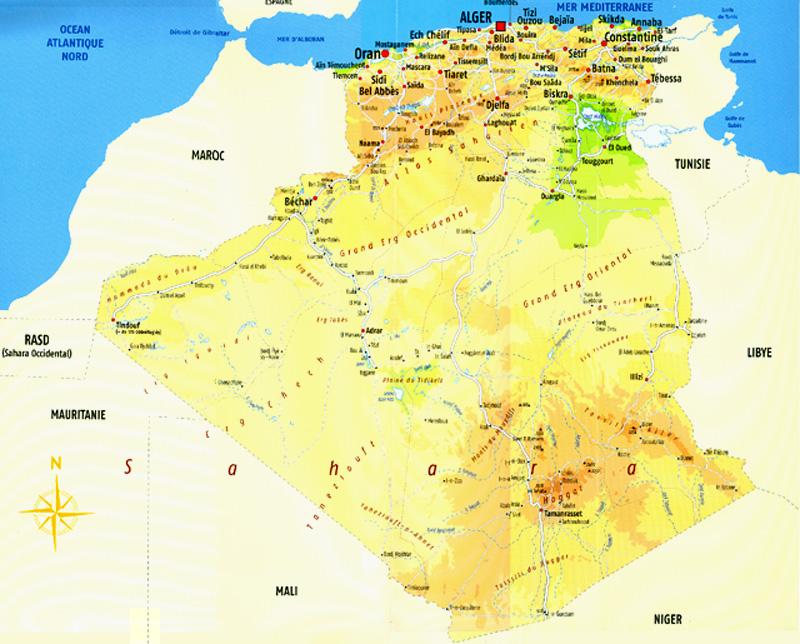 Carte Algerie En Arabe.Ambassade D Algerie Berne Images D Algerie